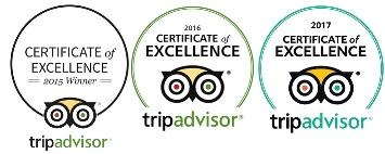 TripAdvisor's Certificate of Excellence